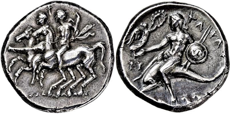 Lot 2024 - GRIECHISCHE MÜNZEN, ITALIEN, KALABRIEN, TARENT.  -  Gerhard Hirsch Nachfolger Auktion 336 Antike Münzen