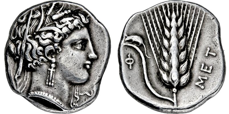 Coin Auction Griechische Münzen Italien Lukanien Metapont