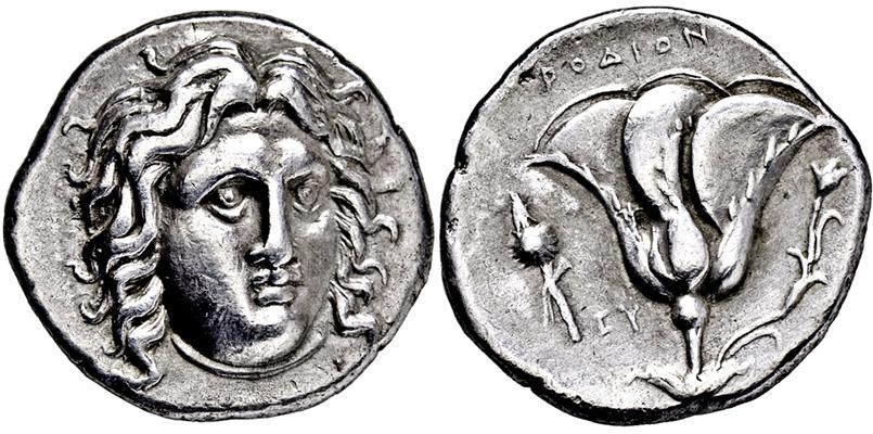 Lot 2191 - GRIECHISCHE MÜNZEN, ASIEN, KARISCHE INSELN, RHODOS.  -  Gerhard Hirsch Nachfolger Auktion 336 Antike Münzen