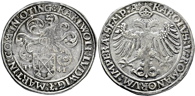 Lot 3608 - ÖTTINGEN, GRAFSCHAFT  -  Gerhard Hirsch Nachfolger Auktion 337 Münzen und Medaillen - Sammlung Bayern, Sammlung Judaica, u.a.
