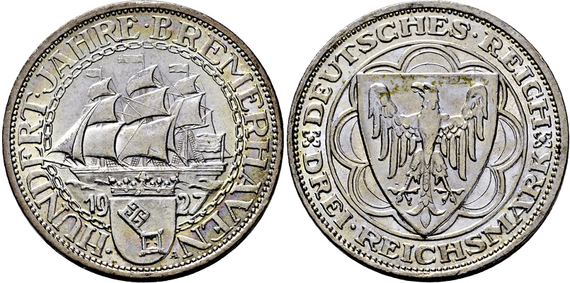 Coin Auction Weimarer Republik Auktion 337 Münzen Und Medaillen