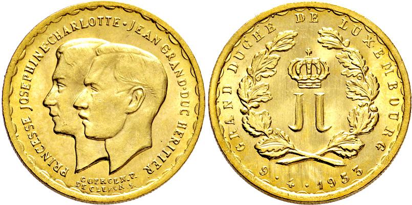 Lot 4418 - luxemburg  -  Gerhard Hirsch Nachfolger Auktion 337 Münzen und Medaillen - Sammlung Bayern, Sammlung Judaica, u.a.